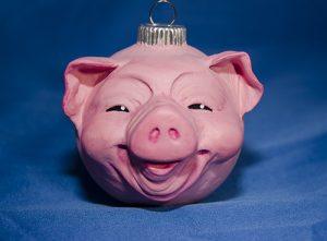 Piggy Ornament by Cyndi Small