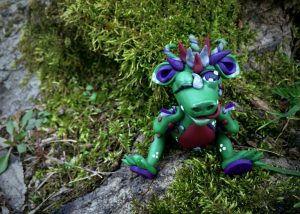"Polymer Clay Challenge - Week 11 by KatersAcres | ""Blinkyn"" the Dragon is available for Adoption"