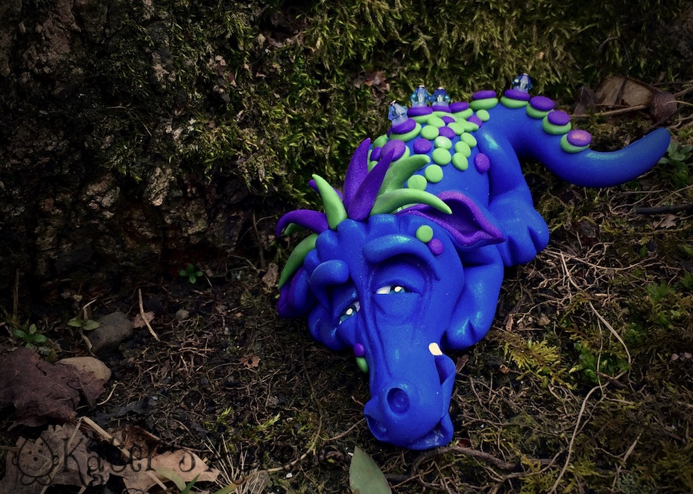 "Polymer Clay Challenge - Week 12 by KatersAcres | ""Sir Sleeps A Lot"" the Dragon is available for Adoption"