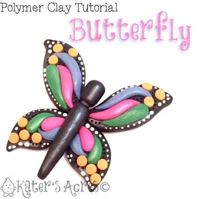 Polymer Clay Butterfly Tutorial