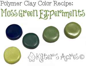 Polymer Clay Color Recipe for Moss Green by KatersAcres | Experiments in Value