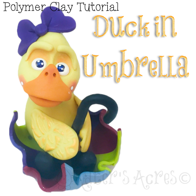Polymer Clay Duck in Umbrella Tutorial by KatersAcres