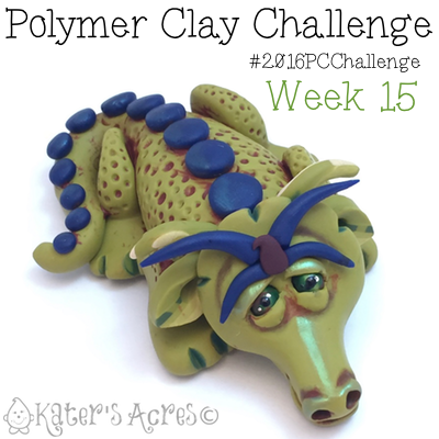 2016 Polymer Clay Challenge, Week 15 Dragon by KatersAcres