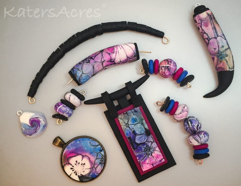 Faux Batik Tutorial by Lorraine Vogel | Modified Polymer Examples by Katie Oskin of KatersAcres