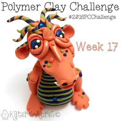 2016 Polymer Clay Challenge, Week 17 Dragon by KatersAcres