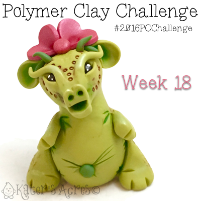 2016 Polymer Clay Challenge, Week 18 Dragon by KatersAcres