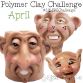 April Polymer Clay Fantasy FACES by Katie Oskin of KatersAcres #2016CChallenge