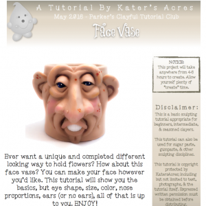 Polymer Clay Face Vase Tutorial by KatersAcres PREVIEW