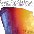 Polymer Clay Skinner Blend Color Recipe for Sunset by KatersAcres