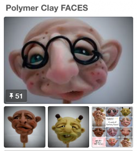 KatersAcres Polymer Clay FACES Pinterest Board