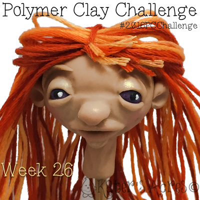 Red Haired Lady Sculpted Face by KatersAcres - Week 26 of the #2016PCChallenge