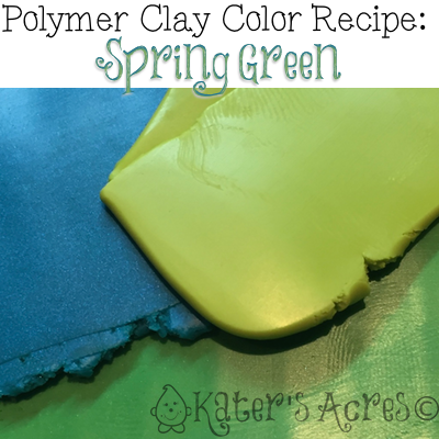 Polymer Clay Color Recipe for Spring Green by KatersAcres
