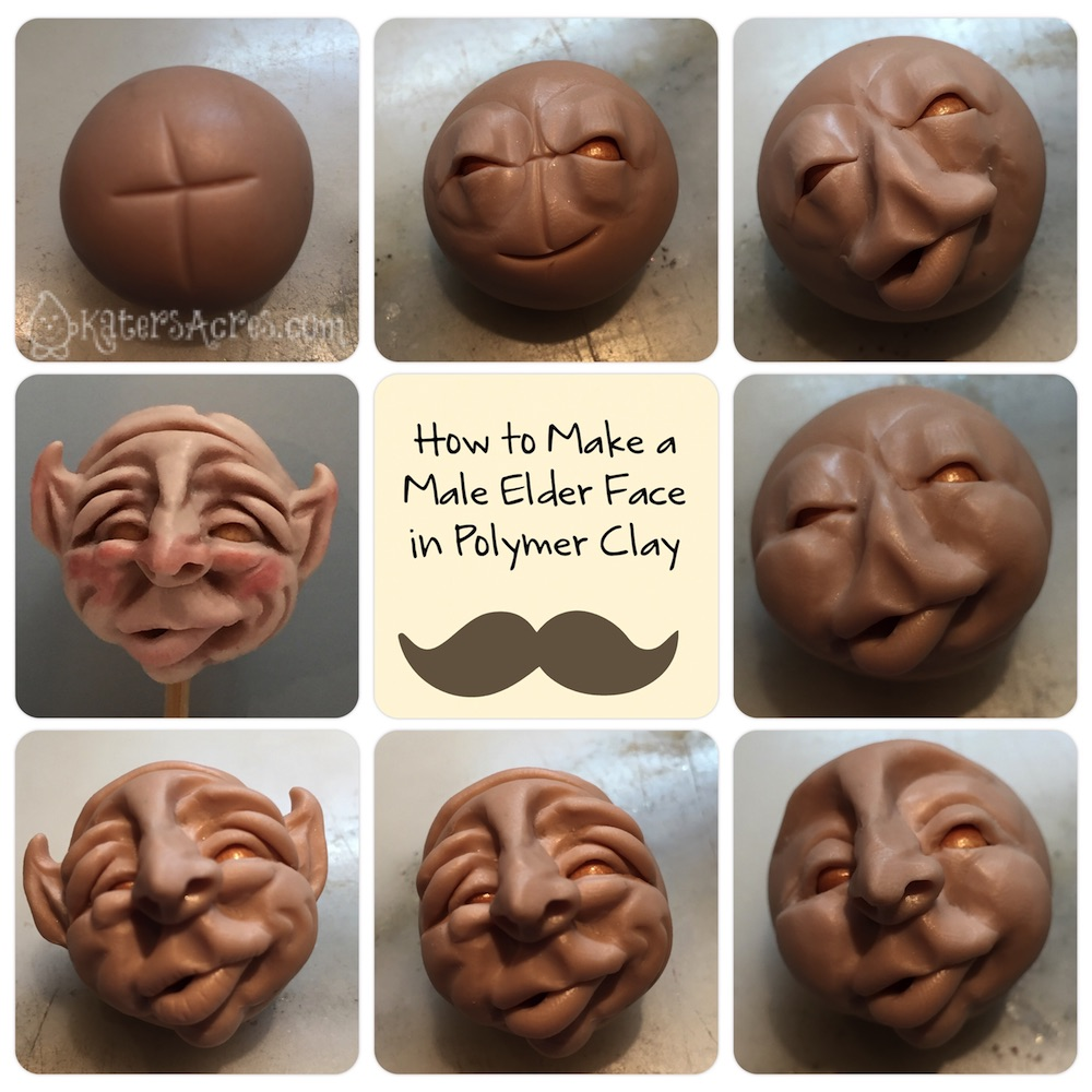 How to Sculpt an Old Man Face by KatersAcres