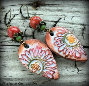 "Polymer Clay ""Flora Rustica"" Earrings by Shannon Tabor"