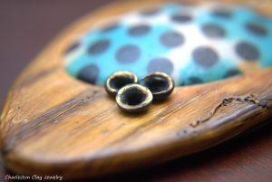 Polka Dot Wood pendant macro by Shannon Tabor