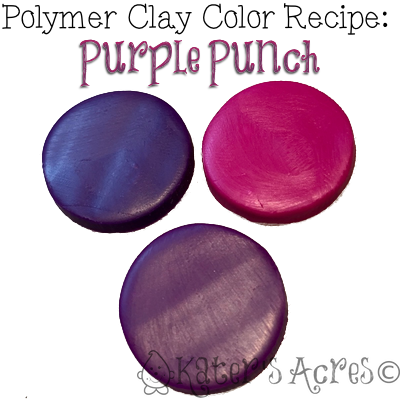 Polymer Clay Color Recipe for Purple Punch by KatersAcres | CLICK for this color recipe plus DOZENS more!