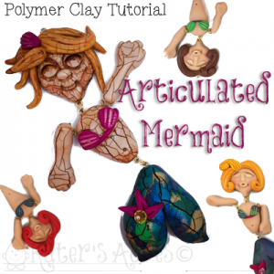 Polymer Clay Articulated Mermaid Tutorial by KatersAcres