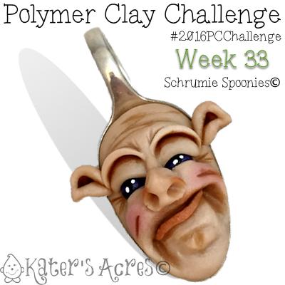 Polymer Clay Schrumie Spoonies© by Katie Oskin of KatersAcres | #2016PCChallenge, Week 33