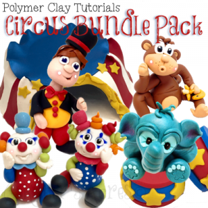 Polymer Clay Circus BUNDLE Pack by KatersAcres