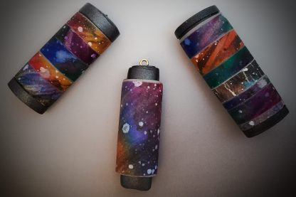 Polymer Clay GALAXY Technique Tutorial SAMPLE BEADS by KatersAcres