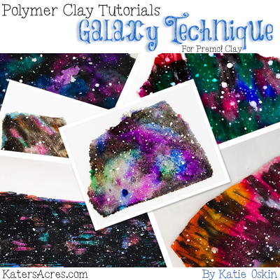 Polymer Clay GALAXY Tutorial by KatersAcres