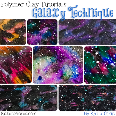 Polymer Clay GALAXY Tutorial by KatersAcres2