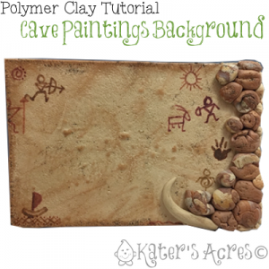 Cave Paintings Background Tutorial by KatersAcres   Click for FREE project & PDF