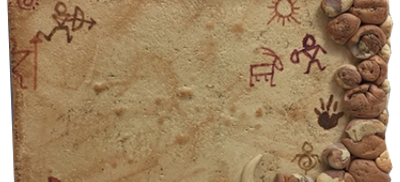 Cave Paintings Background Tutorial by KatersAcres | Click for FREE project & PDF