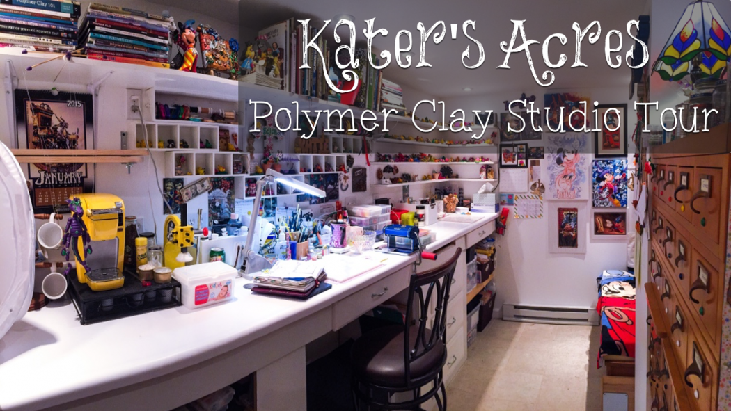 KatersAcres Polymer Clay Studio Tour | CLICK to Watch the Video