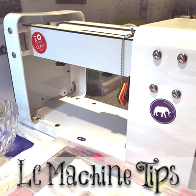LC Machine Tips from KatersAcres | Lucy Clay Tools Clay Rolling Machine