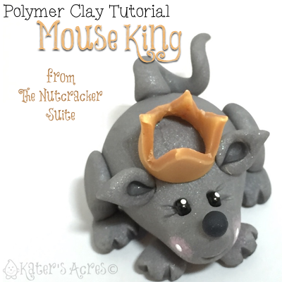 Polymer Clay MOUSE KING Tutorial By KatersAcres | CLICK to learn how to make your own
