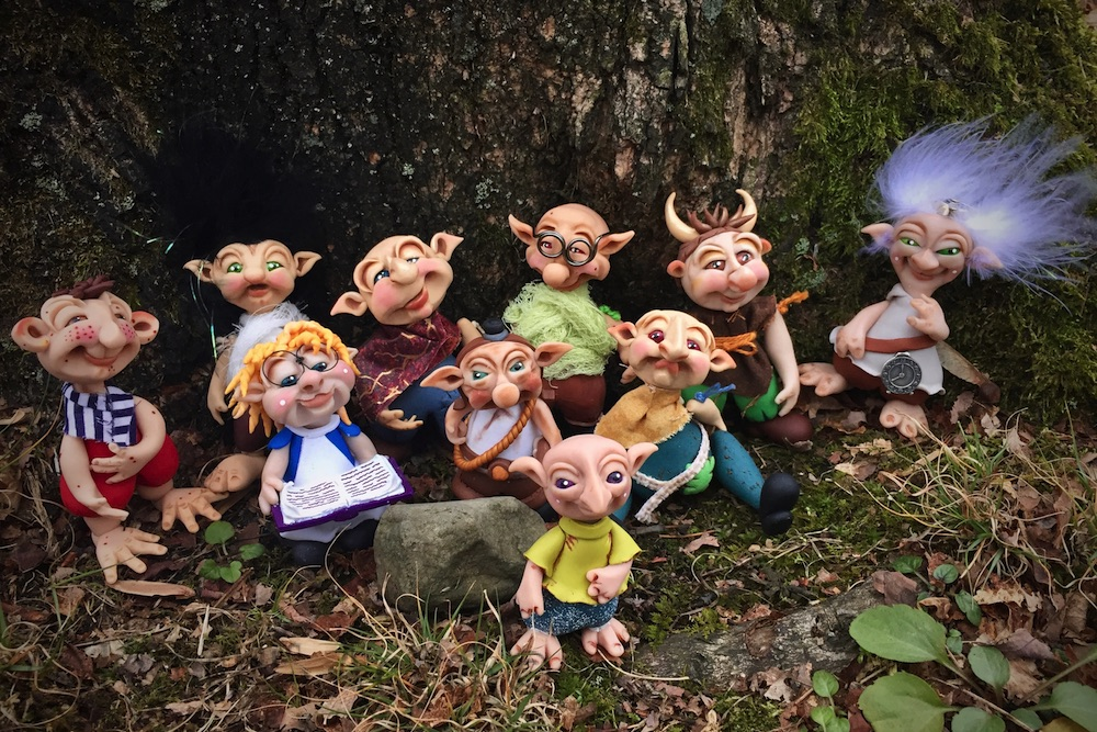 The Schrumes© - Handmade polymer clay troll figurines by Katie Oskin