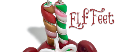 5 Days of Christmas Ornaments by KatersAcres   Elf Feet Ornament FREE Tutorial