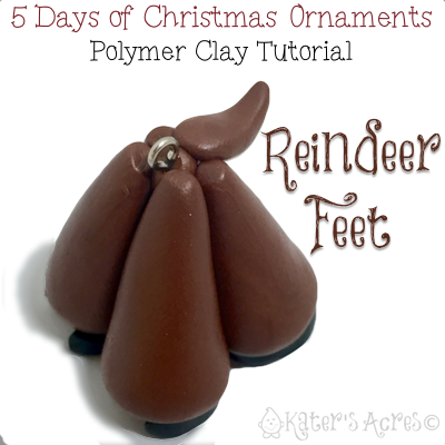 5 Days of Christmas Ornaments by KatersAcres | Reindeer Feet Ornament FREE Tutorial