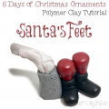 5 Days of Christmas Ornaments by KatersAcres | Santa's Feet Ornament FREE Tutorial