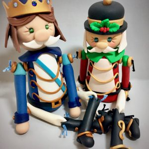 Polymer Clay Nutcrackers by Katie Oskin of KatersAcres