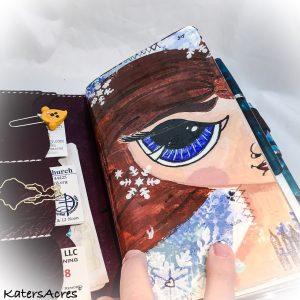 Winter Wonderland Snow Girl Midori Dashboard by KatersAcres   WIP Wednesday