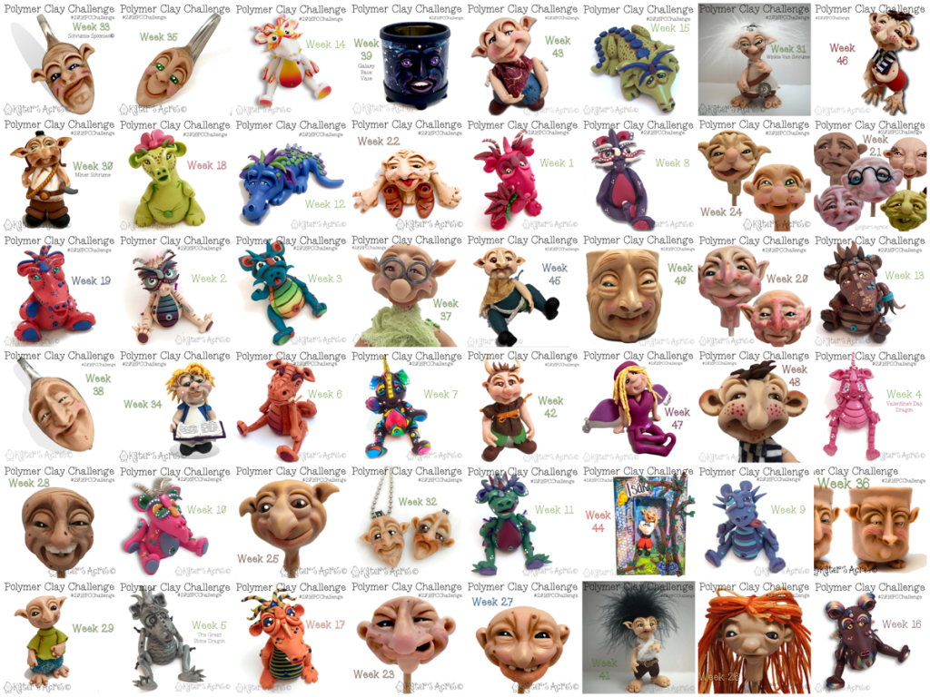 The 2016 Polymer Clay Challenge Completed Works by Katie Oskin