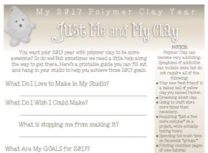 2017 Polymer Clay Challenge Worksheet
