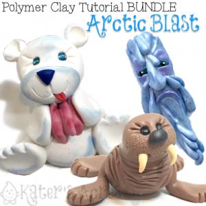 Polymer Clay ARCTIC BLAST Tutorial BUNDLE PACK by KatersAcres