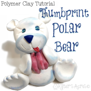 Polymer Clay Polar Bear Tutorial | Use your Thumbprints to Create This Unique Figurine Keepsake