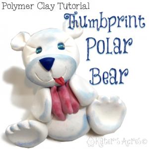 Polymer Clay Polar Bear Tutorial | Use your Thumbprints to Create This Unique Figurine Keepsake