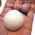 Tips for Sculpting with White Polymer Clay by KatersAcres
