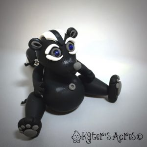 Polymer Clay Jiggly SKUNK Tutorial by KatersAcres