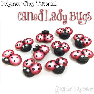 Miniature Caned Polymer Clay LadyBug Tutorial by KatersAcres