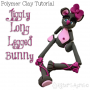 Polymer Clay Jiggly Long Legged BUNNY Tutorial by KatersAcres