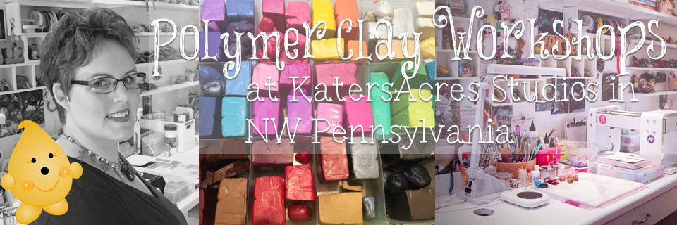 Polymer Clay Workshops at KatersAcres Studio in NW Pennsylvania