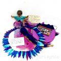Samunnat Nepal - Polymer Clay Doll with Sari Skirt & Necklace