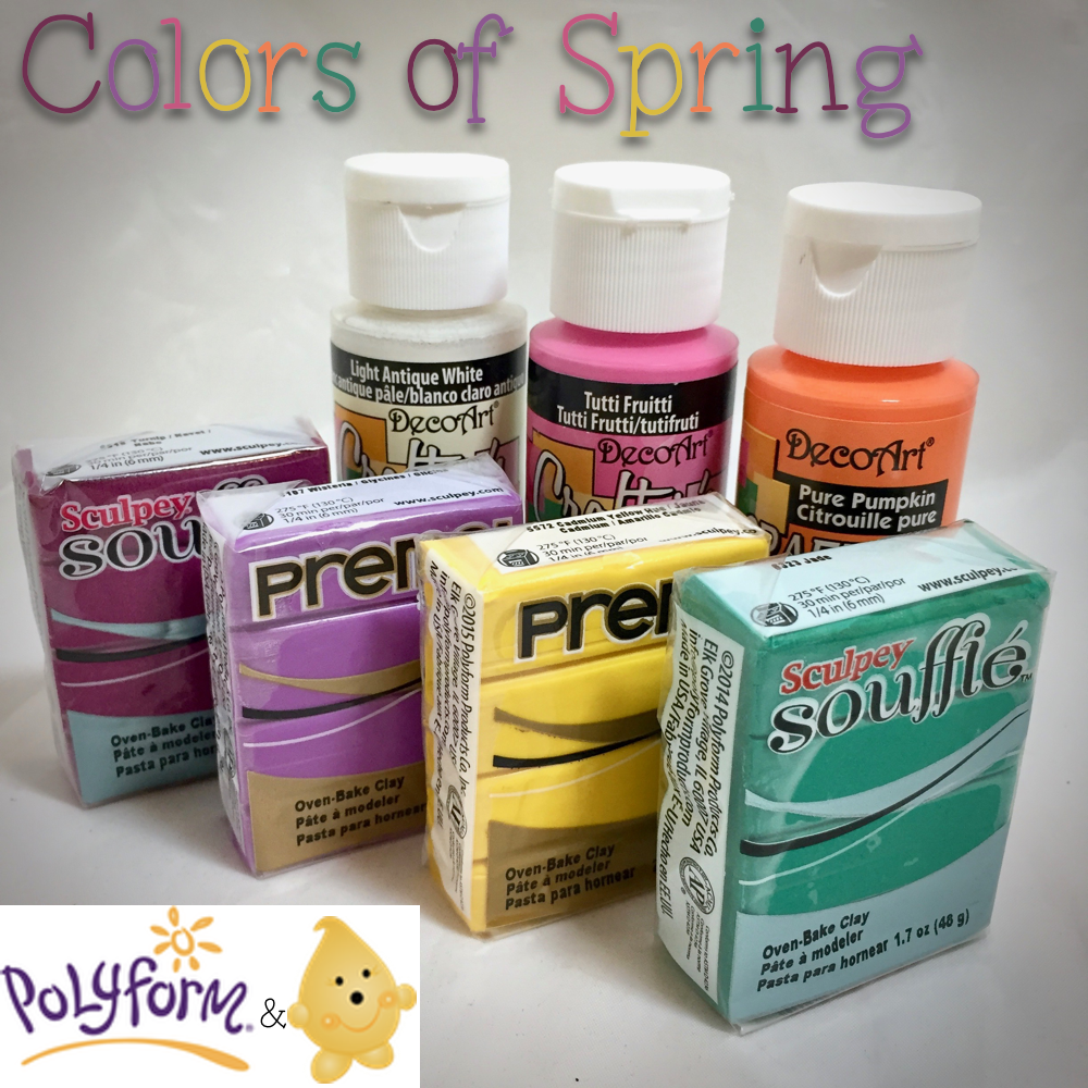 Colors of Spring for Polymer Clay & Acrylic Paints
