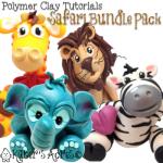 Polymer Clay Safari Tutorials by KatersAcres